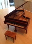 244. Grand Piano and Stool